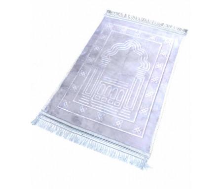 Grand tapis épais antidérapant avec motif Arabesque - Gris