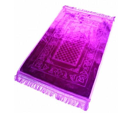 Grand tapis épais antidérapant avec motif Arabesque - Mauve