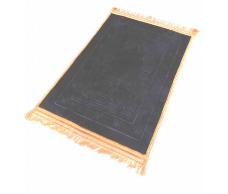 Grand tapis épais antidérapant avec motif Arabesque - Noir