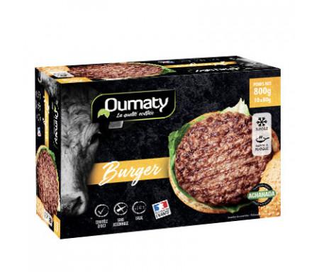 Steak Haché Burger Halal certifié Achahada 800gr (10 sachets individuels) - Oumaty