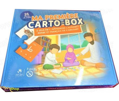 Puzzle Ma première CARTO-BOX - 2 jeux en 1 : Appendre l'Alphabet Arabe et Français en s'