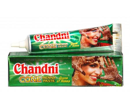 Tube de Henné 100% naturel Prêt à l'emploi pour tatouage - Couleur Marron - Chandni