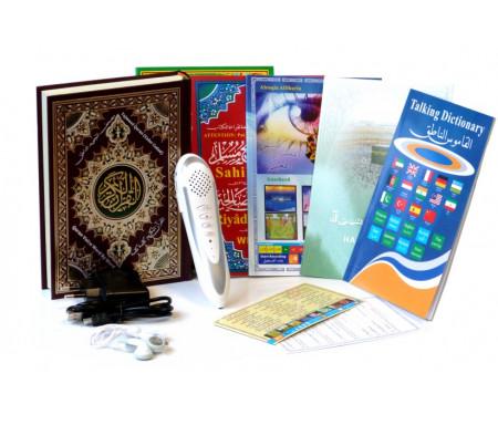 Stylo Lecteur (8 Gb - 18 récitateurs) avec Coran multifonction Format Moyen (19 x 14 cm) et nombreux livres