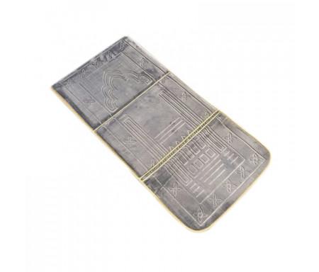 Tapis de Prière Pliable & Confort avec Dossier (support du dos et des genoux) - Mauve