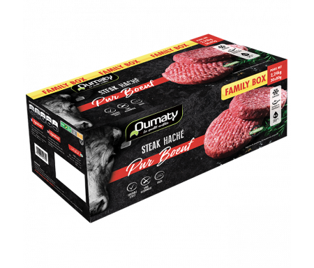 "Le Pur Bœuf 80gr ""Family Box"" (steak haché) Halal certifié Achahada 2.4kg (30x80g) - Oumaty"