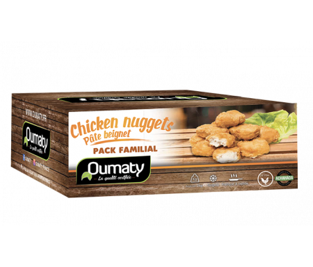 Chicken Nuggets Pâte Beignet Halal certifié Achahada - Sachet 800gr (surgelé) - Oumaty