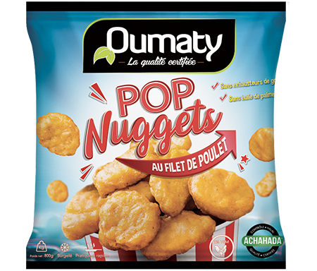 Pop Nuggets Pâte Beignet Halal certifié Achahada - Sachet 800gr (surgelé) - Oumaty