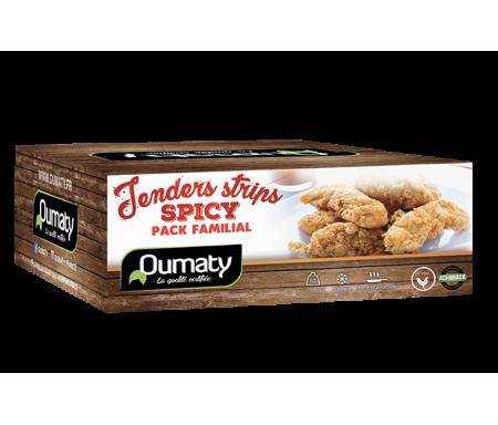 Tenders Strips Spicy (épicés) au Poulet Halal certifié Achahada - Pack Familial 2kg (surgelé) - Oumaty