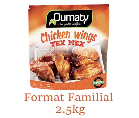 Chicken Wings Tex Mex au Poulet Halal certifié Achahada - Pack Familial 2.5kg (surgelé) - Oumaty