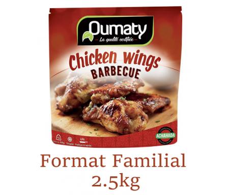 Chicken Wings Barbecue au Poulet Halal certifié Achahada - Pack Familial 2.5kg (surgelé) - Oumaty