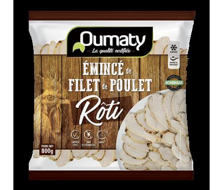 Émincés de Filet de Poulet rôti Halal certifié Achahada - Sachet 800gr (surgelé) - Oumaty
