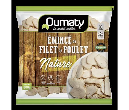 Émincés de Filet de Poulet nature Halal certifié Achahada - Sachet 800gr (surgelé) - Oumaty