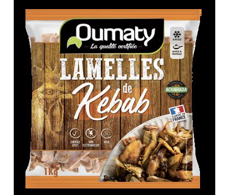 Lamelle de Kebab Halal certifié Achahada - Sachet 800gr (surgelé) - Oumaty