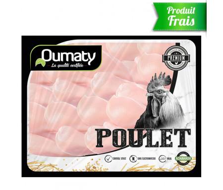 Filets de Poulet Halal certifié Achahada de Qualité supérieure - Barquette de 2.5kg (Produit frais) - Oumaty