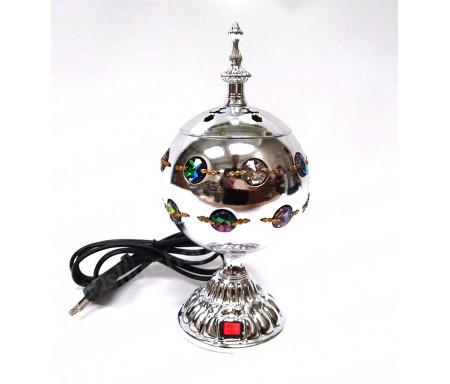 Brûleur d'encens / encensoir électrique en forme de Boule avec Perles en métal bronze