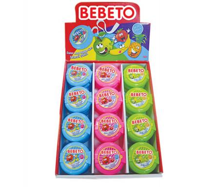 Pack de 3 x Chewing-gum Halal en rouleau (Bing-Bong gum) Frais / Passion / Tutti Frutti - 120gr (3 x 40g) - Bebeto