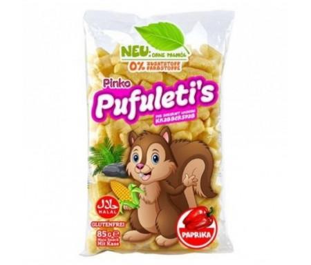 Snack Halal au maïs Soufflé goût Paprika 85gr - Pinko
