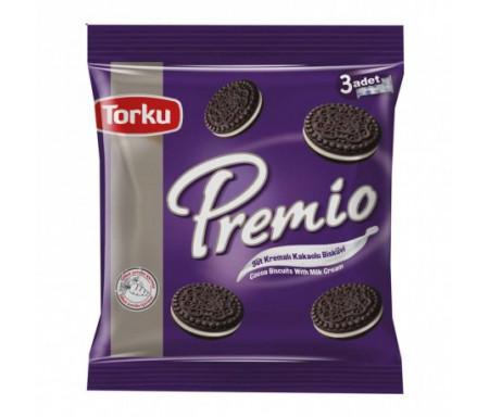 Biscuits Premio au Cacao et à la crème de lait - Lot de 3 Paquets maxi individuel (3 x 132gr) - TORKU