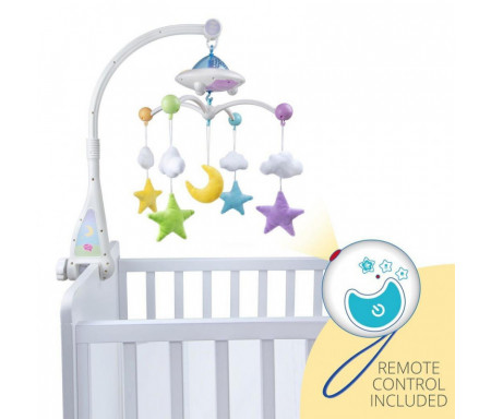 Mobile Bébé Coranique lumineux « Lune & Etoiles » avec Télécommandé (Mobile Moon & Stars)