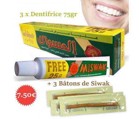Dentifrice Miswak (Meswak) Dabur 75g au Siwak
