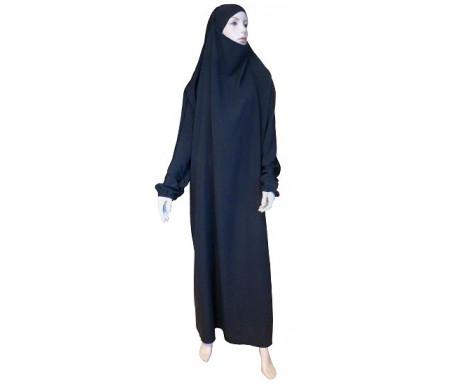 Jilbab Al-Haramayn une (1) pièce - Couleur Noire