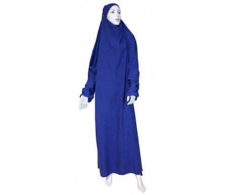 Jilbab Al-Haramayn une (1) pièce - Couleur Aubergine