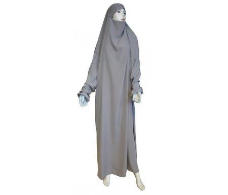 Jilbab Al-Haramayn une (1) pièce couleur Gris