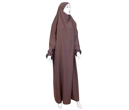 Jilbab Al-Haramayn une (1) pièce - Couleur Marron