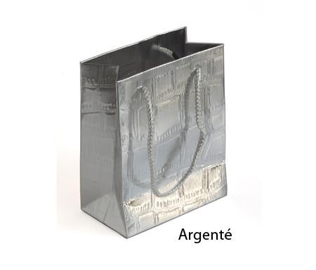 Petit sac cadeau brillant Argenté - 14,5 x 12 cm