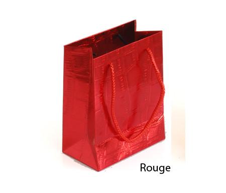 Petit sac cadeau brillant Rouge - 14,5 x 12 cm