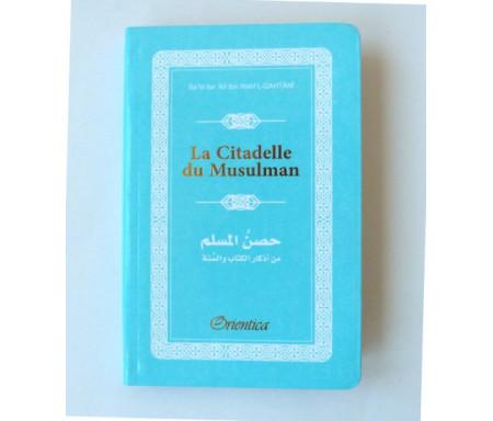 La Citadelle du Musulman - Hisnul Muslim - Rappels et Invocations du Livre et de la Sunna - arabe/français/phonétique - Couleur bleu ciel