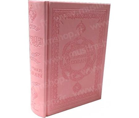 Le Saint Coran Arabe - Français - Phonétique (Format Moyen) - Rose clair