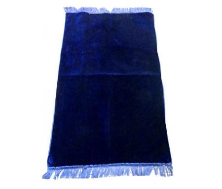 Tapis de Prière Velours Luxe couleur unie - Bleu Nuit