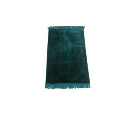 Tapis de Prière Velours Luxe couleur unie - Vert