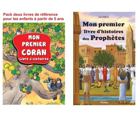 Pack deux livres de référence pour les enfants à partir de 5 ans : Mon premier Coran + Mon premier livre d'histoires des prophètes