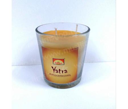 Encens bougie parfumée à la cire d'abeille Yatra 100% naturel