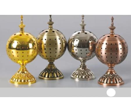 Brûleur d'encens / encensoir en forme de Boule en métal cuivre