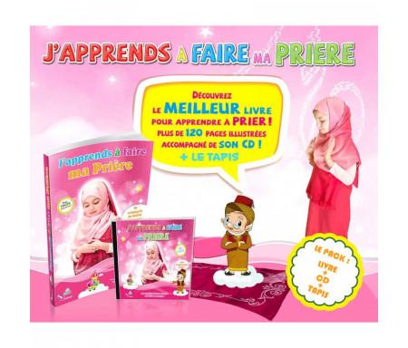 """Pack """"J'apprends à faire ma Prière"""" pour fille (Livre + CD + Tapis)"""
