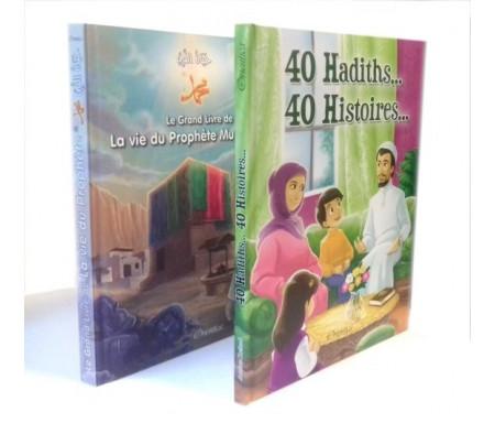 Pack 2 livres : Le Grand Livre de la Vie du Prophète Muhammad + 40 Hadiths... 40 Histoires... (Cartonnés de luxe)