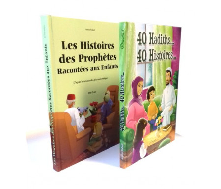 Pack Histoire : 40 Hadiths... 40 Histoires... + Les Histoires des Prophètes Racontés aux Enfants (2 livres cartonnés en édition de luxe)