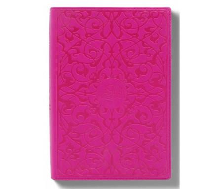 Le Saint Coran et la Traduction du sens de Ses Versets Grand Format - Rose Ed. Luxe tranche argenté (Souple)