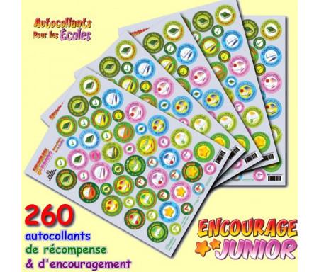 Pack de 260 autocollants de récompense et d'encouragement pour les écoles - Spécial Enseignants
