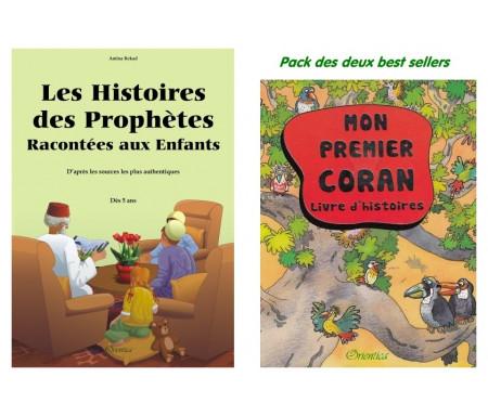 Pack deux livres de référence (à partir de 5 ans) : Mon Premier Coran + Les Histoires des Prophètes Racontées aux Enfants