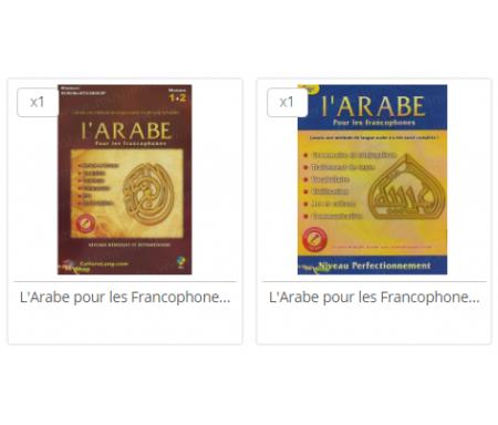 Pack L'arabe pour les francophones - Niveaux 1 et 2 + Niveau 3