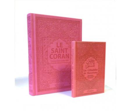 Pack Le Saint Coran et la Citadelle du Musulman (français / arabe / phonétique) couleur rose