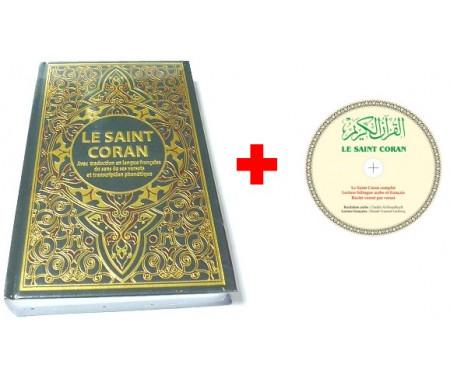 Pack Livre + CD MP3 : Le Saint Coran avec traduction en langue française du sens de ses versets et transcription phonétique