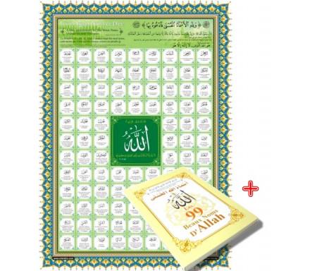 Pack livre + poster Les 99 Noms d'Allah