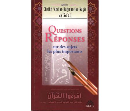 Questions Réponses sur des sujets les plus importants