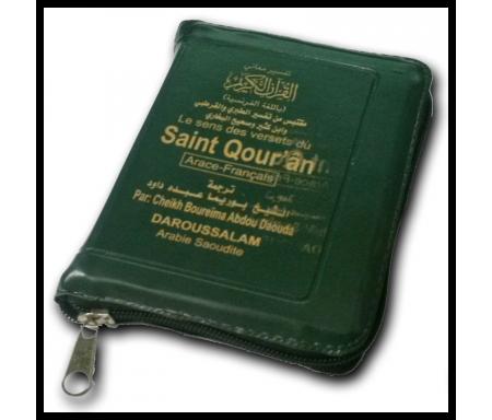 Le Saint Qour'an / Coran arabe / français - Format 8x12 cm - Poche à Fermeture éclaire