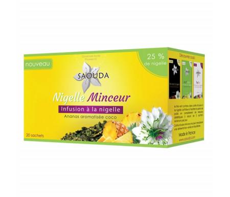 Thé à la Nigelle - Infusion Minceur ananas aromatisée noix de coco - Boite de 20 Sachets